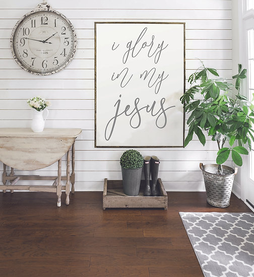 GLORY IN MY JESUS | Flat Canvas Wall Art | Home Decor | Wall Art |Ready to Frame