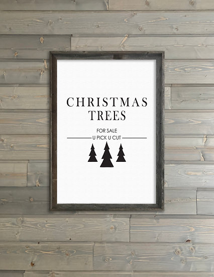 CHRISTMAS TREES FOR SALE | Flat Canvas Wall Art | Christmas | Ready to Frame