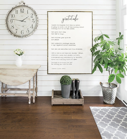 GRATITUDE | Flat Canvas Wall Art | Home Decor | Wall Art | Ready to Frame