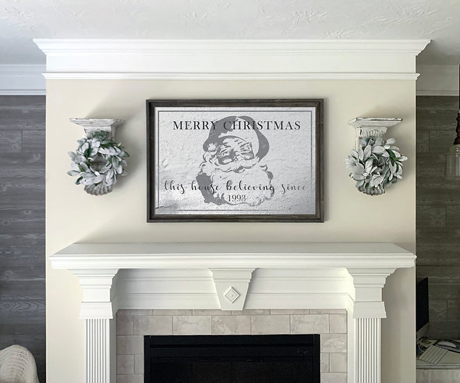 THIS HOUSE BELIEVING | Flat Canvas Wall Art | Christmas | Ready to Frame