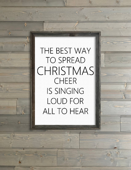 CHRISTMAS CHEER | Flat Canvas Wall Art | Christmas | Ready to Frame