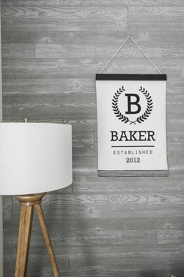 ADD ON: Black Wood & Gingham Ribbon | Flat Canvas Wall Art | Home Decor Sign