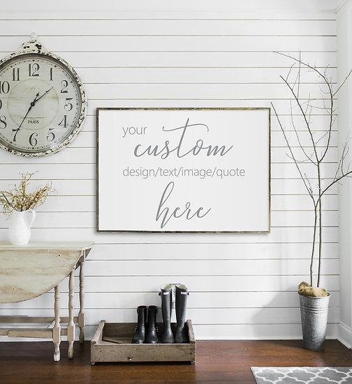 CUSTOM ORDER | Flat Canvas Wall Art | Home Decor | Custom Signs | Ready to Frame