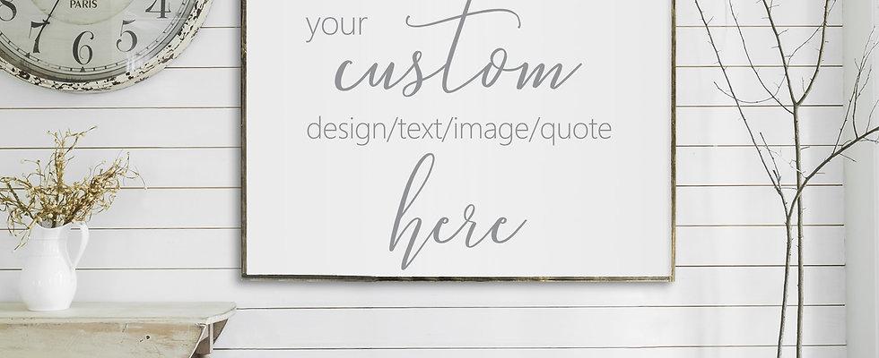 CUSTOM ORDER | Flat Canvas Wall Art | Home Decor | Custom Signs | Ready to Frame