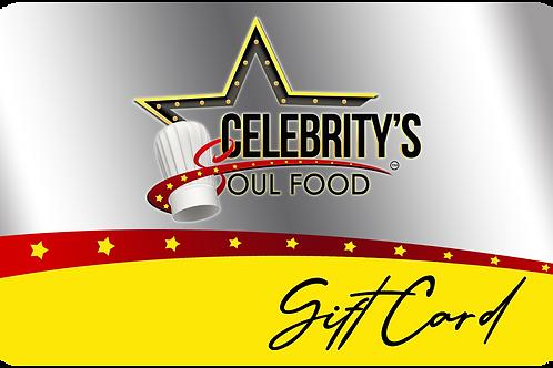 Celebritys Gift Card