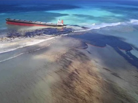 Oil spill in Mauritius....