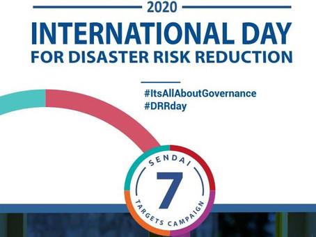 International Day for Disaster Risk Reduction...
