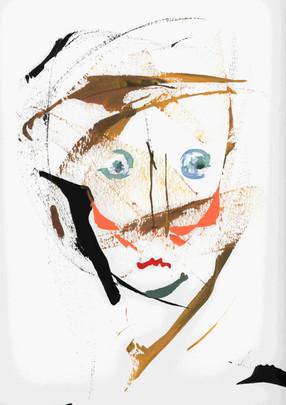 Boy. Acrylic on paper.