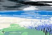 Landscape. Acrylic on canvas..