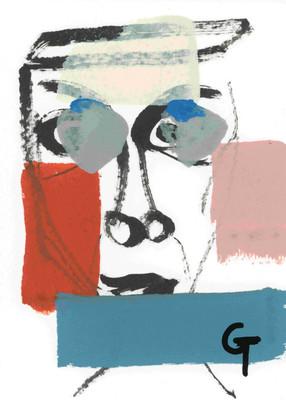 b13 Artwork in progress 2. Acrylic on paper.