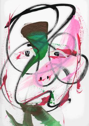 Mind-Full 5. Acrylic on paper.