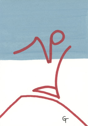 Art piece 6. Acrylic on paper.