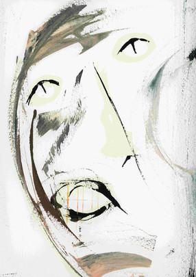 Last days. Acrylic on paper.