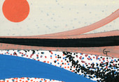 Planets 14. Acrylic on paper.
