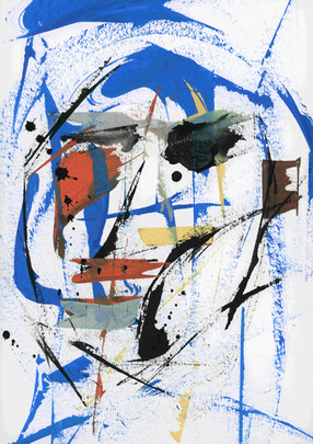 Dominator. Acrylic on paper.