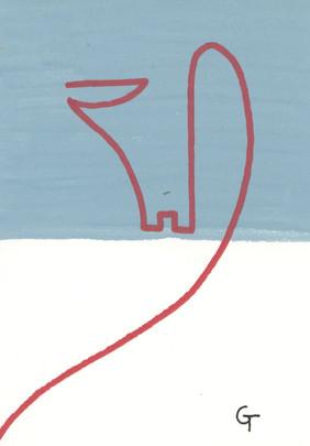 Art piece 4. Acrylic on paper.