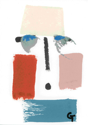 Artwork in progress 3. Acrylic on paper.