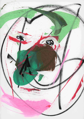 Mind-Full 5. Acrylic on paper