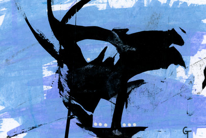 Art-is-ta. Acrylic on paper.