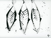 3 fish. Acrylic on canvas.