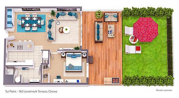 162 Landmark Terrace - 3D Floor Plan 800