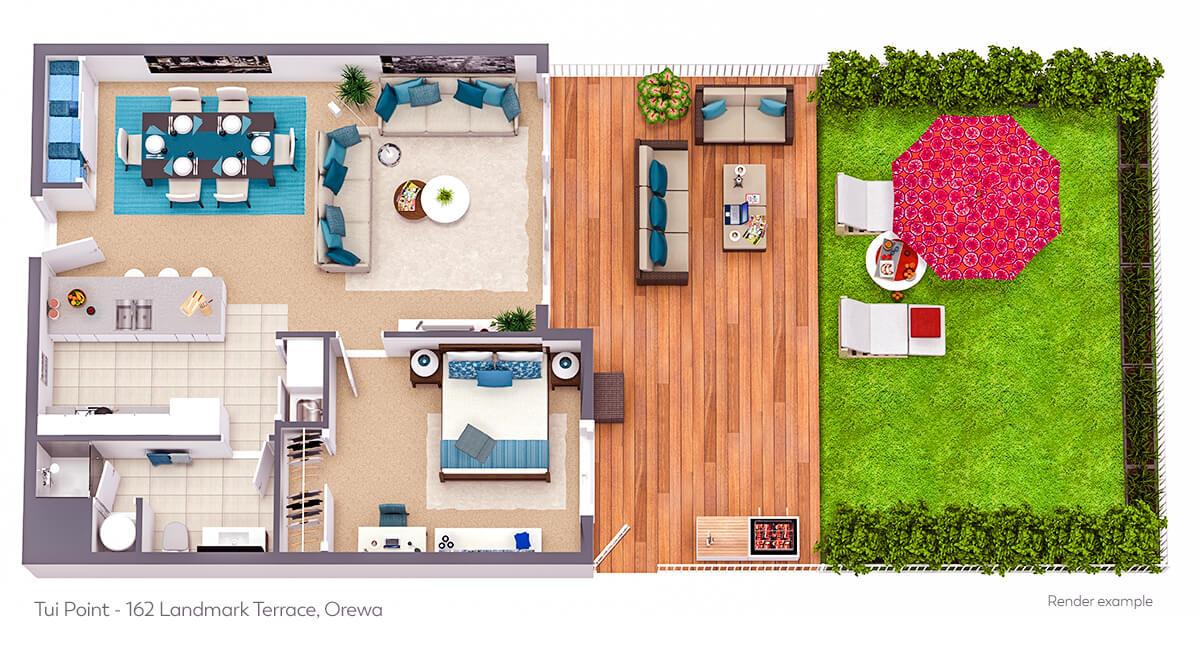 162 Landmark Terrace - 3D Floor Plan 02.