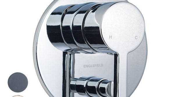 Englefield Studio Pin Lever Bath/Shower Mixer with diverter