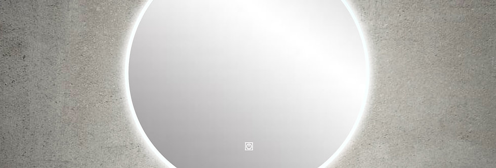 RLM600DE-AC Round LED Mirror Demister with Acrylic Frame