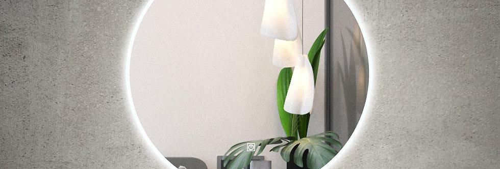 RLM800DE-AC Round LED Mirror Demister with Acrylic Frame