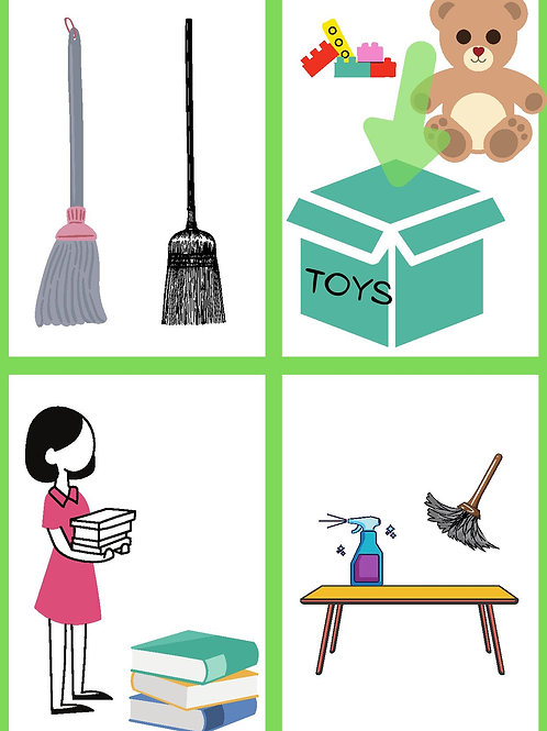 Children's Picture Chore Cards