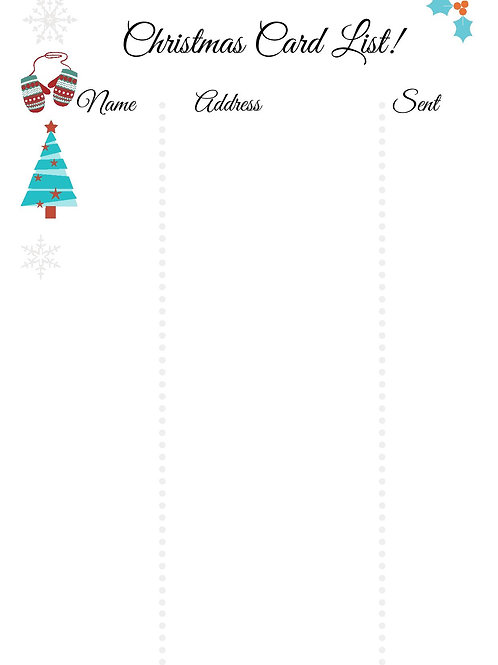 Christmas Card List