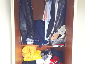 Before and After Wardrobe / Closet Sort Out.