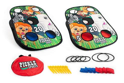 Pickle Sports 2-in-1 Cornhole Safari Game
