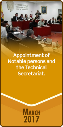 Appointment of Notable persons and the Technical Secretariat