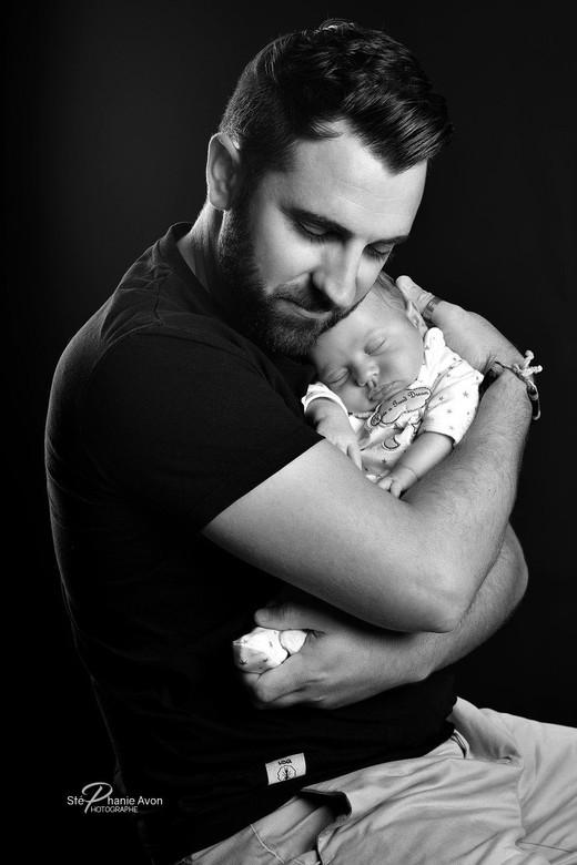 Photographe de naissance père fils