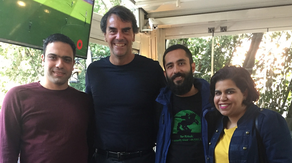 From left: Ashot Arzumanyan (SmartGateVC), Tim Draper (DFJ, Draper Associates, Draper University), Hambardzum Kaghketsyan (SmartGateVC), Asra Nadeem (Draper University)