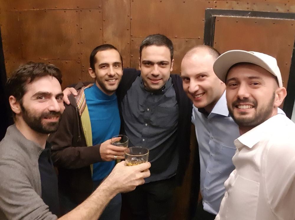 from left: Vazgen Hakobjanyan, Hambardzum Kaghketsyan, Ashot Arzumanyan, Tigran Petrosyan, Vahan Petrosyan