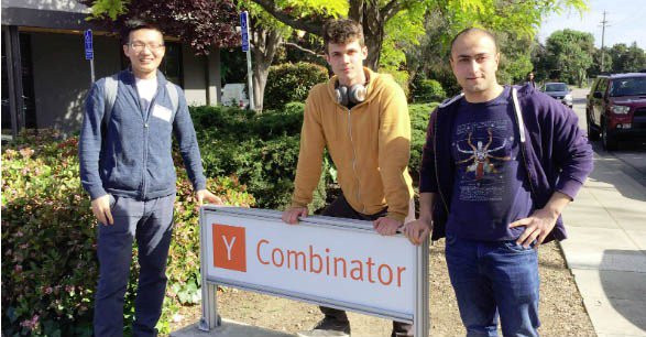 Jason Ge, Sergiy Popovych, Davit Buniatyan after getting accepted to Y Combinator 2018