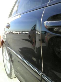 Mercedea rear door edge crease