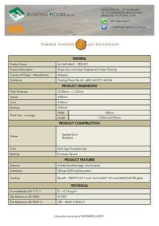 Project Tech Data Sheet