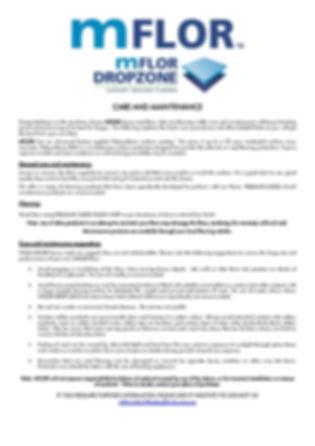 mFLOR Dropzone Care Guide