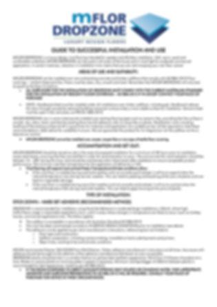 mFLOR Dropzone Installation Guide