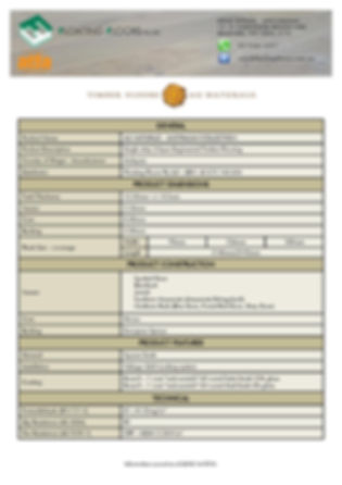 Australian Hardwood Collection Specifications