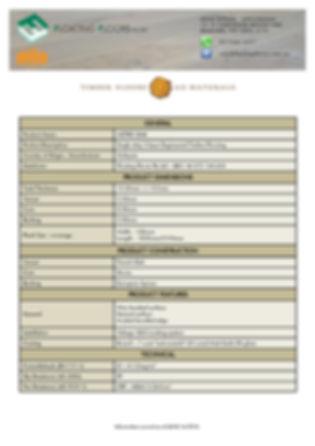 Metro Oak Specifications