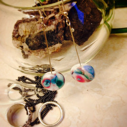 Instagram - New watercolour inspired glass earrings - already getting ready for