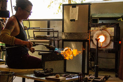 Glass blowing , FIRE
