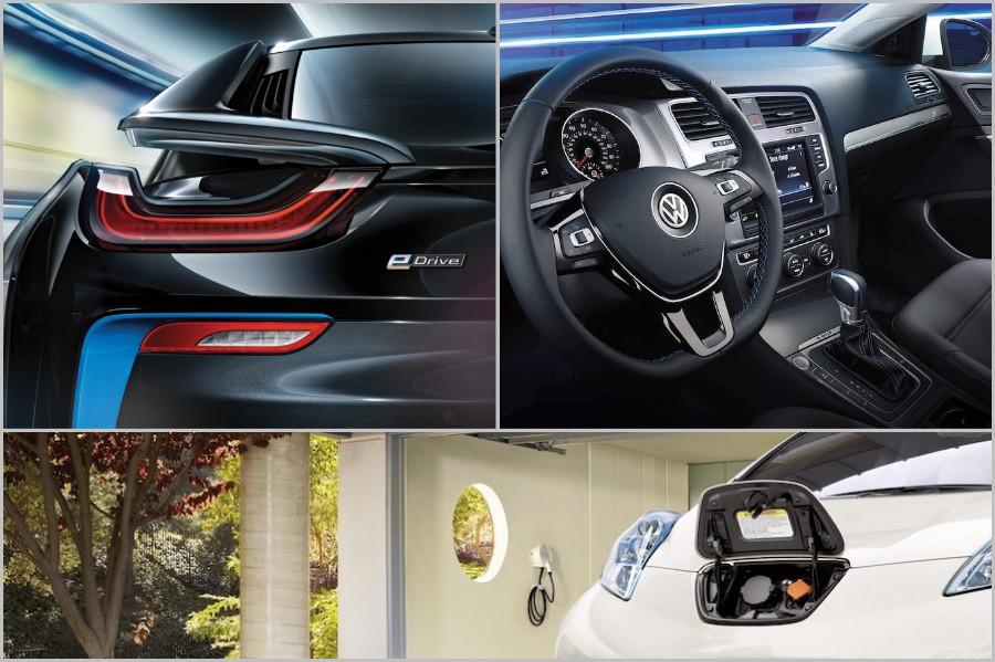 Detalhes de carros BMW, Volkswagen e Nissan