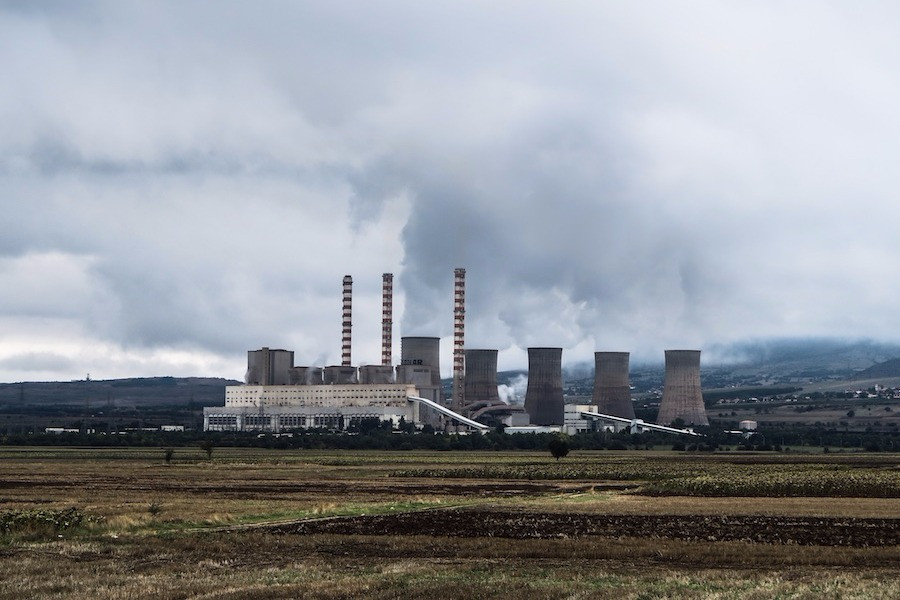 Indústria poluidora de Katerini, na Grécia