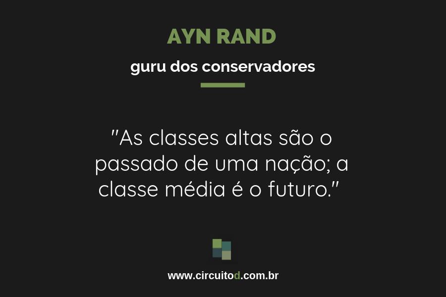 Frase de Ayn Rand sobre futuro e classe média