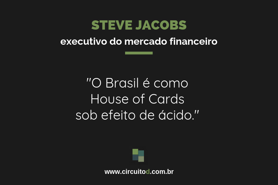 Frase de Steve Jacobs sob o Brasil